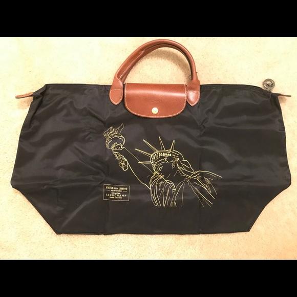 faa237852bf8 Longchamp Handbags - NWOT Longchamp Le Pliage NYC Statue of Liberty Bag